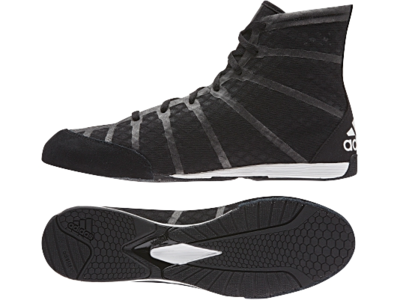 Buy the Adidas AdiZero Boxing Boot Black  online at Fight Outlet