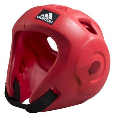 Buy the Adidas Adizero Speed Head Guard - Red WAKO WTF ITF Approved online at Fight Outlet