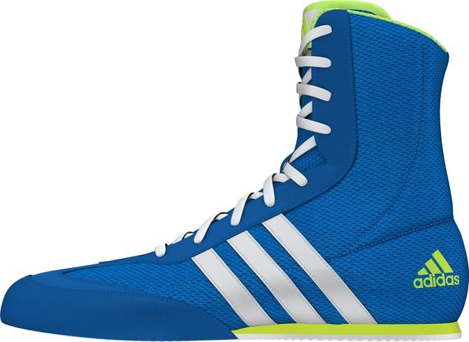 Buy the Adidas Box Hog Boxing Boots, Blue **NEW** online at Fight Outlet