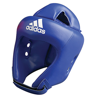 Buy the Adidas ROOKIE Head Guard CE Blue online at Fight Outlet