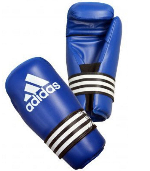 Buy the Adidas Semi Contact Gloves, Blue online at Fight Outlet