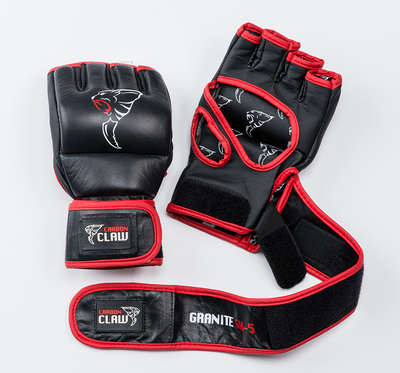 Buy the Carbon Claw Granite GX-5 Grappling Training Glove No Thumb 4oz Black/Red online at Fight Outlet