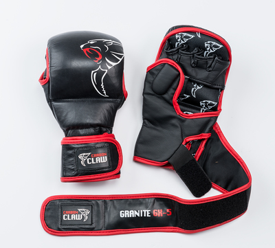 Buy the Carbon Claw Granite GX-5 Grappling Spar Glove Black/Red 7oz online at Fight Outlet