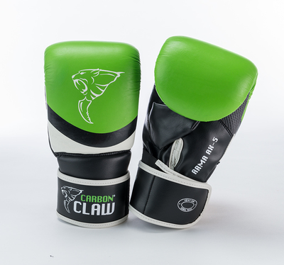 Buy the Carbon Claw Arma AX-5 Punch Bag Mitt Green/Black  online at Fight Outlet