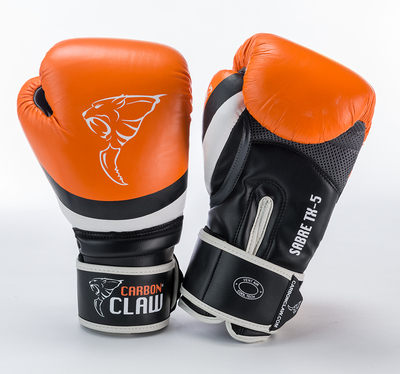 Buy the Carbon Claw Sabre TX-5 Sparring Glove Orange/Black online at Fight Outlet