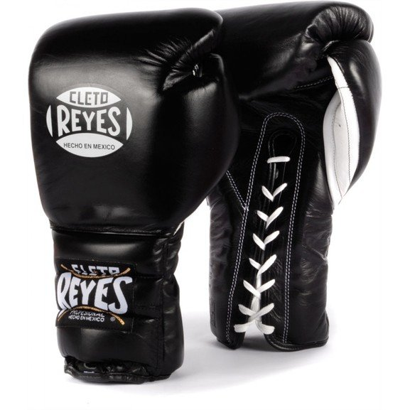 Cleto Reyes Black Lace up Sparring Boxing Gloves