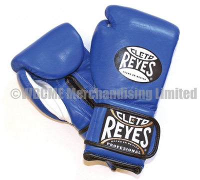 Buy the Cleto Reyes Blue Velcro Sparring Gloves online at Fight Outlet
