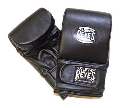 Buy the Cleto Reyes Leather Wrap Around Bag Gloves Black  online at Fight Outlet
