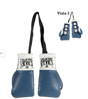 Buy the Cleto Reyes Mini Boxing Gloves Blue  online at Fight Outlet
