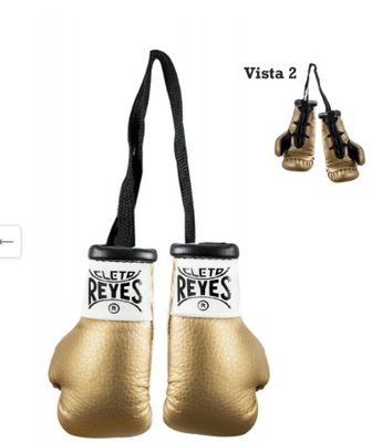 Buy the Cleto Reyes Mini Boxing Gloves Gold  online at Fight Outlet