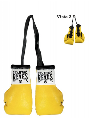Buy the Cleto Reyes Mini Boxing Gloves Yellow  online at Fight Outlet