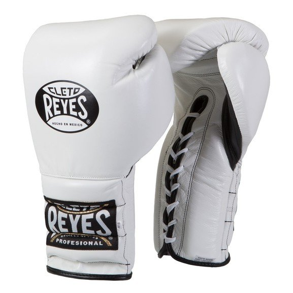 Cleto Reyes White Lace up Sparring Boxing Gloves