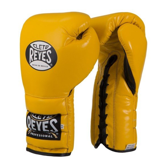 Cleto Reyes Yellow Lace up Sparring Boxing Gloves