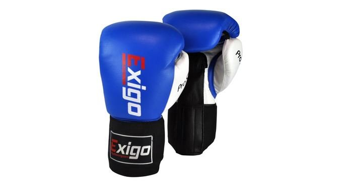 Buy the Exigo Boxing Amateur Contest Glove Blue  online at Fight Outlet