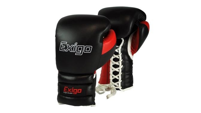 Exigo Boxing Ultimate Pro Sparring Lace Up Boxing Gloves
