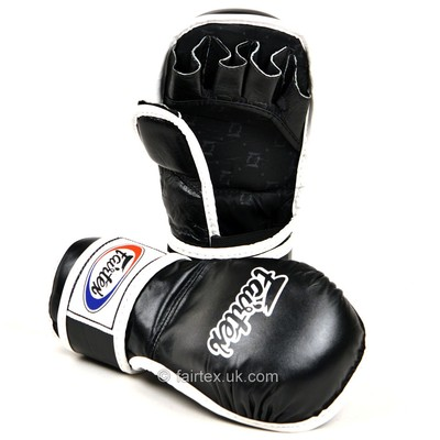 Buy the FGV15 Fairtex Black MMA Sparring Gloves online at Fight Outlet