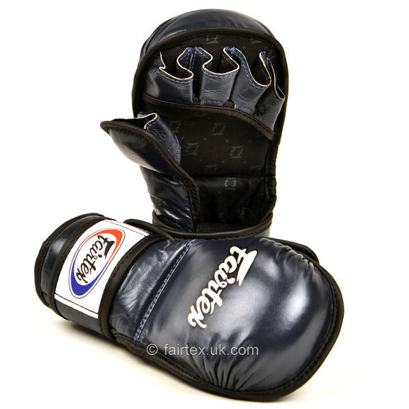 Buy the FGV15 Fairtex Blue MMA Sparring Gloves online at Fight Outlet