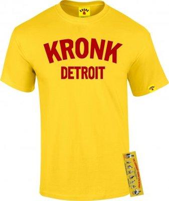 KRONK Boxing Detroit City T Shirt Maroon