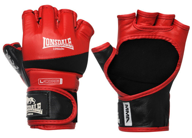 Lonsdale Amateur MMA Fight Gloves Red/Black.