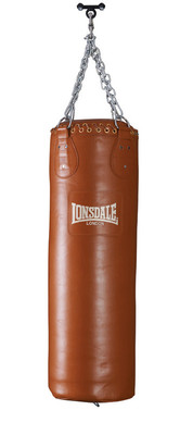 Lonsdale Authentic Leather Punch Bag 4ft
