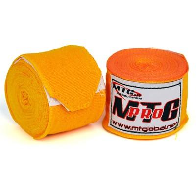 MTG Pro 5m Elasticated Hand Wraps Orange