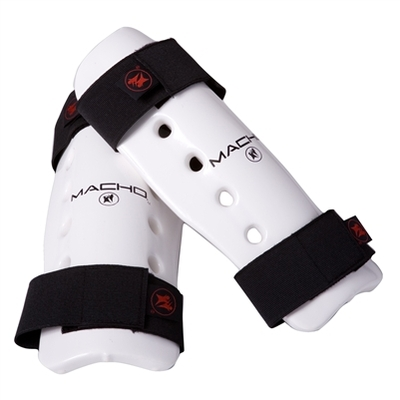 Buy the Macho Dyna Shinguard White  online at Fight Outlet