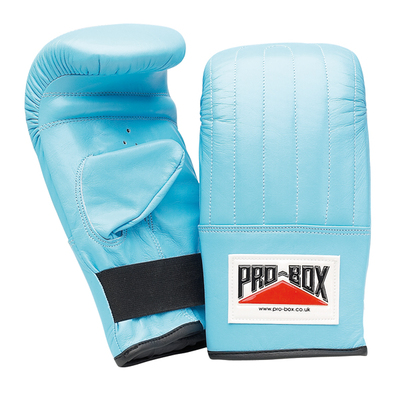 Pro Box 'BABY BLUE COLLECTION' Leather Punch Bag Mitts