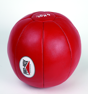 Pro Box Leather Medicine Ball 6kg Red