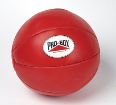 Pro Box Leather Medicine Ball 4kg Red