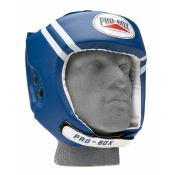 Buy the Pro Box PU 'Club Essentials' Junior Headguard Blue online at Fight Outlet