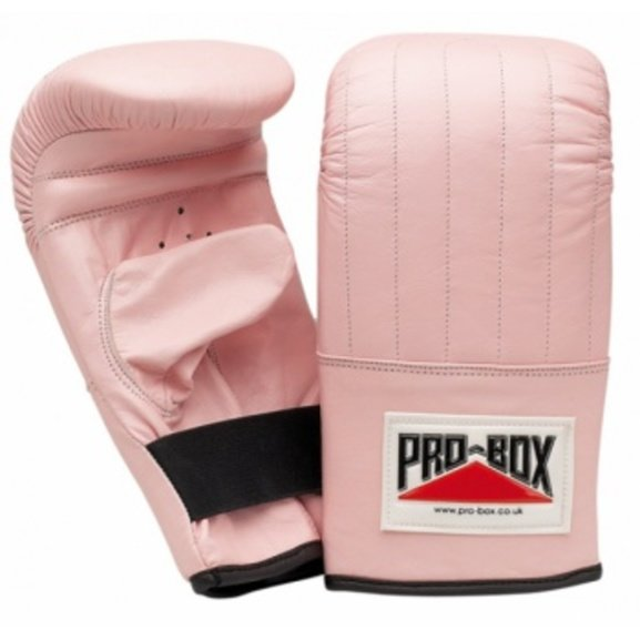 Pro Box Pink Collection Ladies Leather Punch Bag Mitts/Gloves