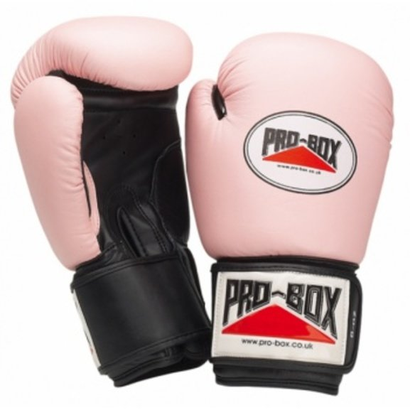 Pro Box Pink Collection Leather Training Gloves 10oz