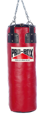 Pro Box 'RED COLLECTION' Leather 3ft Boxing Punch Bag 27kg