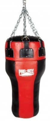 Pro Box 'RED COLLECTION' Leather Uppercut Angle Bag