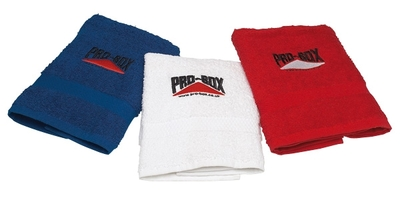 Pro Box Gym Towel, Red, Blue or White