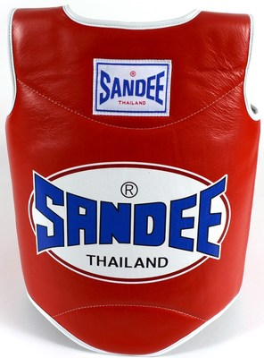 Sandee Authentic Body Shield Synthetic Leather Red/White Kids