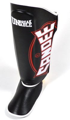 Sandee Cool-Tec Boot Shin Guards Leather Black/White/Red