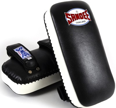 Sandee Extra Thick Thai Kick Pads Leather Black/White