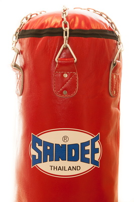 Sandee Full Leather Punch Bag Red 4FT & 5FT