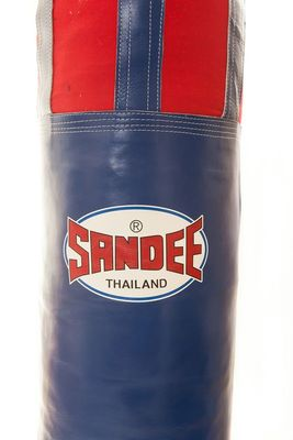 Sandee Half Leather Punch Bag 5ft or 6ft- Blue/Red