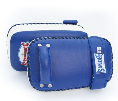 Sandee Kids Extra Thick Thai Kick Pads PU Blue/White