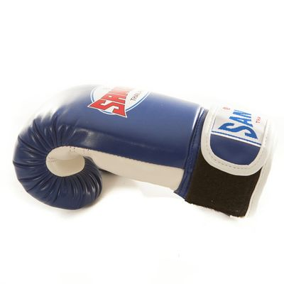 Sandee Kids Velcro 2 Tone Boxing Gloves Blue/White Synthetic Leather