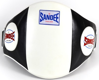 Buy the Sandee Velcro Belly Pad Black/White online at Fight Outlet