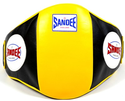 Buy the Sandee Velcro Belly Pad Yellow/Black  online at Fight Outlet