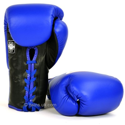 BGLL-1 Twins Blue Lace-up Competition Gloves