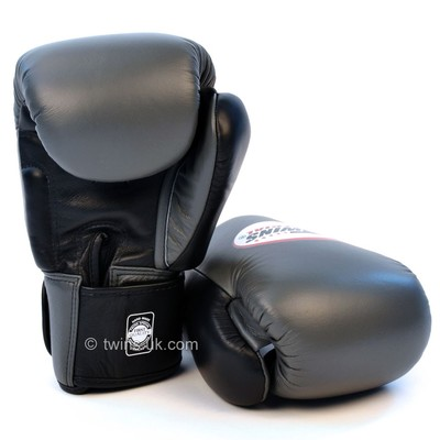 Twins Boxing Gloves Muay Thai Kickboxing Gloves 2-Tone Grey 10oz 12oz 14oz 16oz