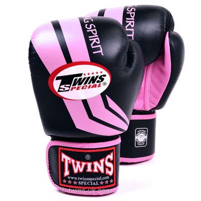 Buy the FBGV-43 Twins Black-Pink Stripe Boxing Gloves online at Fight Outlet