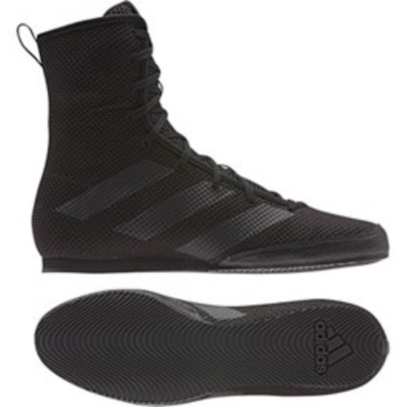 Adidas Box Hog 3 Black Boxing Boots | Fight Outlet