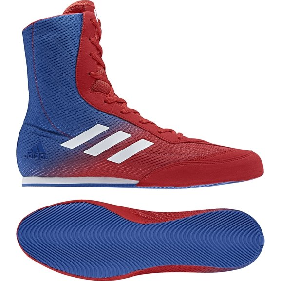 wholesale dealer a5bf6 78037 Adidas Box Hog Plus Red/Blue/White Boxing Boots | Fight Outlet