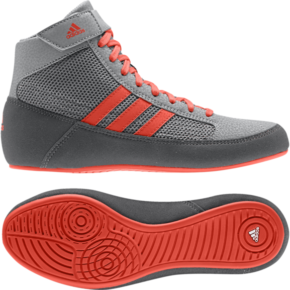 Buy the Adidas Havoc Kids Grey/Red Junior Boots online at Fight Outlet